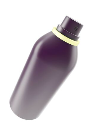 compressed air: The aerosol spray, hair spray, deodorant isolated on white background. 3d illustration