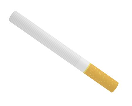 toxic product: Smoking a cigarette isolated on a white background, 3d illustration high resolution Stock Photo