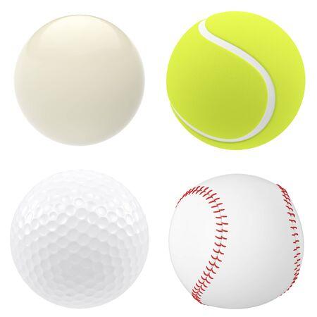 billiard ball: billiard, ball isolated on white background. 3d illustration high resolution