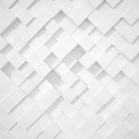 3d abstract white background rhombus, cubes