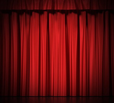 Blue silk curtains 版權商用圖片 - 44587789