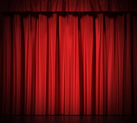 teatro: Cortinas de seda azul