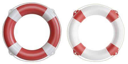 titanic: Set of life buoys. 3d illustration high resolution