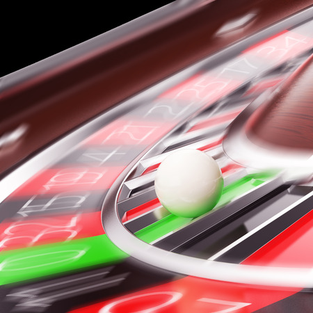 wheel spin: Casino Roulette closeup in motion. 3d illustration High resolution