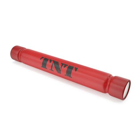 bombshell: TNT bomb isolated on a white background. 3d illustration High resolution