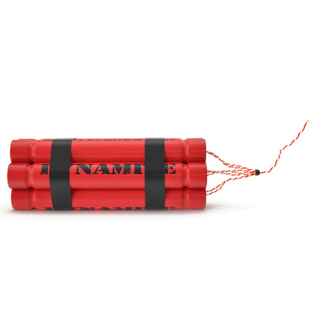 granade: TNT, dynamite bomb isolated on white background. 3d illustration High resolution Stock Photo