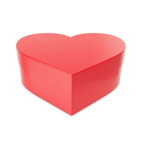 festal: Gift on Valentines Day heart-shaped. 3d illustration High resolution Stock Photo
