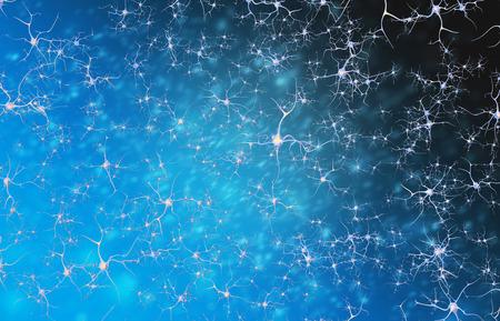 cellule nervose: I neuroni delle cellule del sistema nervoso. illustrazione 3D