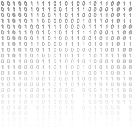 encoding: Binary code on a white background. binary algorithm, encryption, encoding matrix. Stock Photo