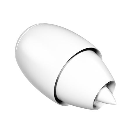 aluminum airplane: jet engine isolated on white background. 3d illustration