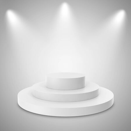 night club interior: Empty Background with Spotlight Effects. 3d illustration