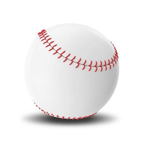 fastball: Baseball ball isolated on white background. 3d illustration