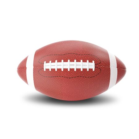black american: Rugby american ball isolated on white background. 3d illustration
