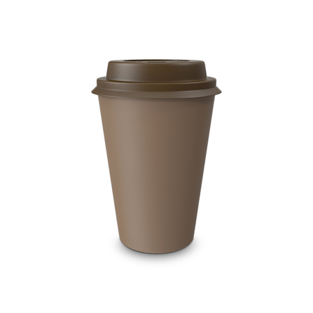 thermo: Mock-up take-out coffee in thermo cup. Isolated on a white. 3D illustration Stock Photo