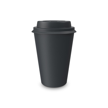 coffee cup isolated: Blank paper coffee cup isolated on white background. 3D illustration