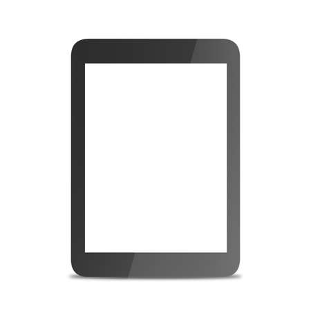 electronic device: Tablet computer, electronic device isolated on white background. 3D illustration