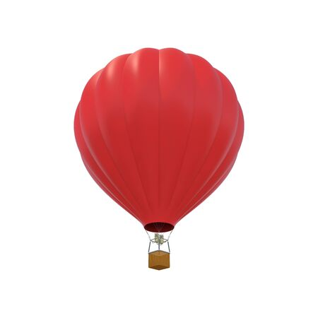 red sky: Red air ballon isolated on white background. 3d illustration