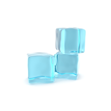 ice cubes: Group of ice cubes isolated on white background.