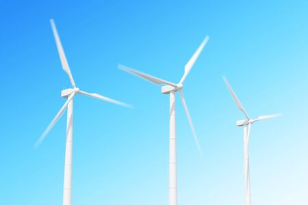 vane: wind turbine in motion on skiy background.
