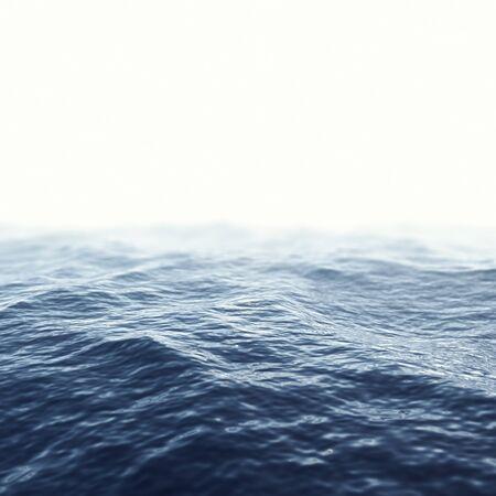 caribbean sea: Caribbean sea, ocean with focus effect. 3d illustration Stock Photo