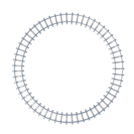 isoated: Circle railroad isoated on white background. 3d illustration