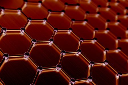 nanotube: Graphene atomic structure, nanotechnology background 3d illustration Stock Photo