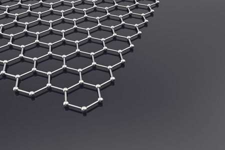 echnology: Graphene Surface, nanot echnology background 3d illustration Stock Photo