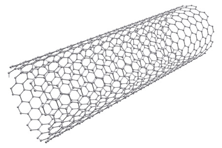 nanotube: The structure of the graphene tube of nanotechnology 3d illustration