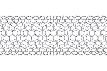 nanoparticle: The structure of the graphene tube of nanotechnology 3d illustration