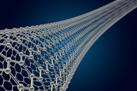 graphene: The structure of the graphene tube of nanotechnology 3d illustration