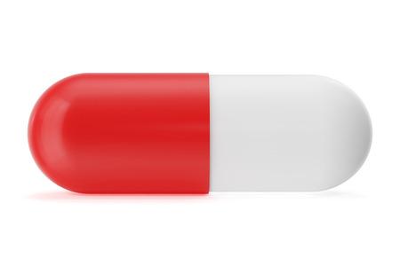 pilule: Primer de cápsulas de pastillas aislados en blanco, ilustración 3d Foto de archivo