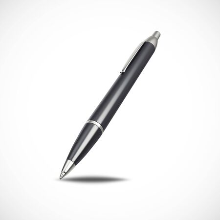 ball pens stationery: Fountain pen isolated on white background, 3d illustration