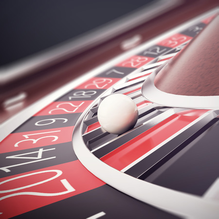fortune concept: Playing casino roulette, concept casino gambling, wheel of fortune, 3d illustration