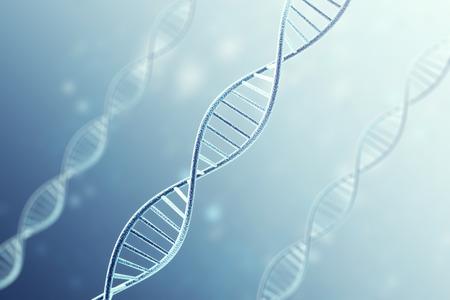 Concetp デジタル イラストレーション DNA 構造。3 d レンダリング。 写真素材