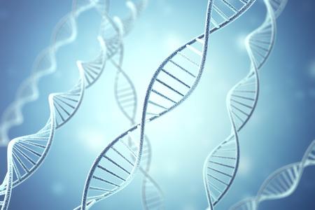 rna: Concetp digital illustration DNA structure. 3d rendering.