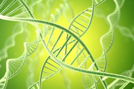 Concetp digital illustration DNA structure. 3d rendering.