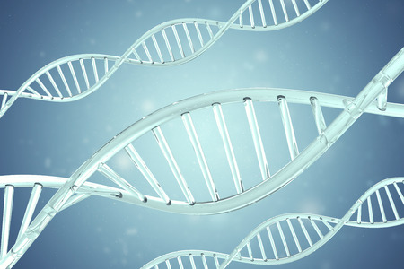 nucleic acid: Synthetic, artificial DNA molecule, the concept of artificial intelligence. 3d rendering.