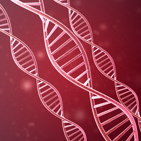 cytosine: Concept of biochemistry with dna molecule. 3d rendering. Stock Photo