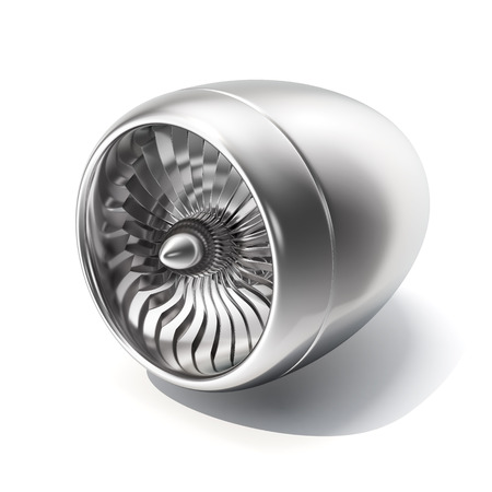 jet engine: Jet engine isolated on white background. 3d rendering.
