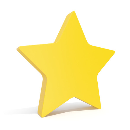 isoated: 3d illustration star, favorite icon isoated on white background