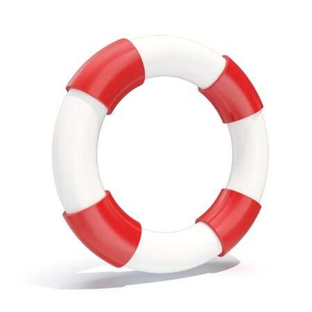 lifebelt: 3d illustration icon lifebuoy isolated on white background