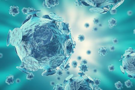 h1n1: 3d rendering, Hepatitis, H1N1, HIV, FLU, AIDS viruses abstract background