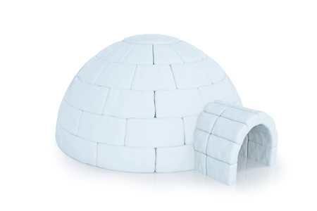 Iigloo isolated on white background. 3d rendering Stock Photo