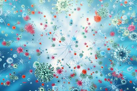swine flu: Influenza Virus H1N1. Swine Flu, infect organism, viral disease epidemic. 3d rendering