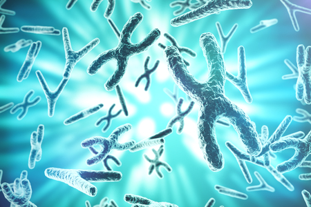 cloning: XY-chromosomes as a concept for human biology medical symbol gene therapy or microbiology genetics research. 3d rendering