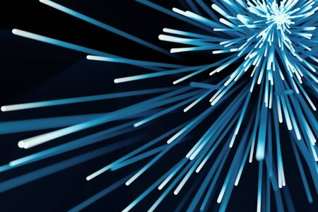 burst background: Abstract particles background. Burst lines with lights. 3d rendering