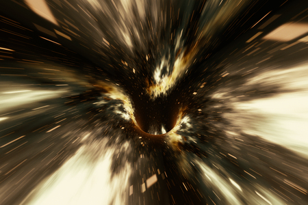 우주, 웜홀 또는 블랙홀, 코스모스, 3d 렌더링에서에서 임시 공간을 극복의 장면에서 추상 속도 터널 날실