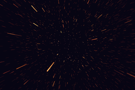 Concept traveling in space, warp stars abstract background, galaxy, 3d rendering Stock Photo