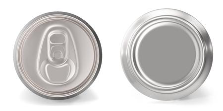 흰색 배경에 알루미늄 캔 근접의 집합, 3d 렌더링 스톡 콘텐츠 - 75920660