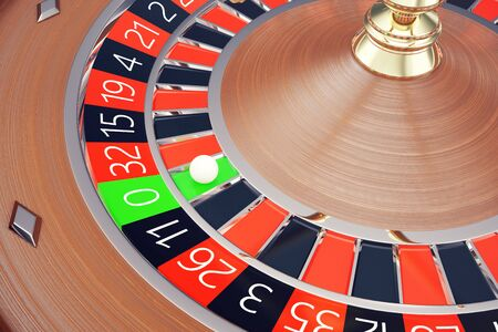 Casino Roulette Las Vegas Gambling Concept. Playing in a Casino Conceptual 3d rendering Stock Photo